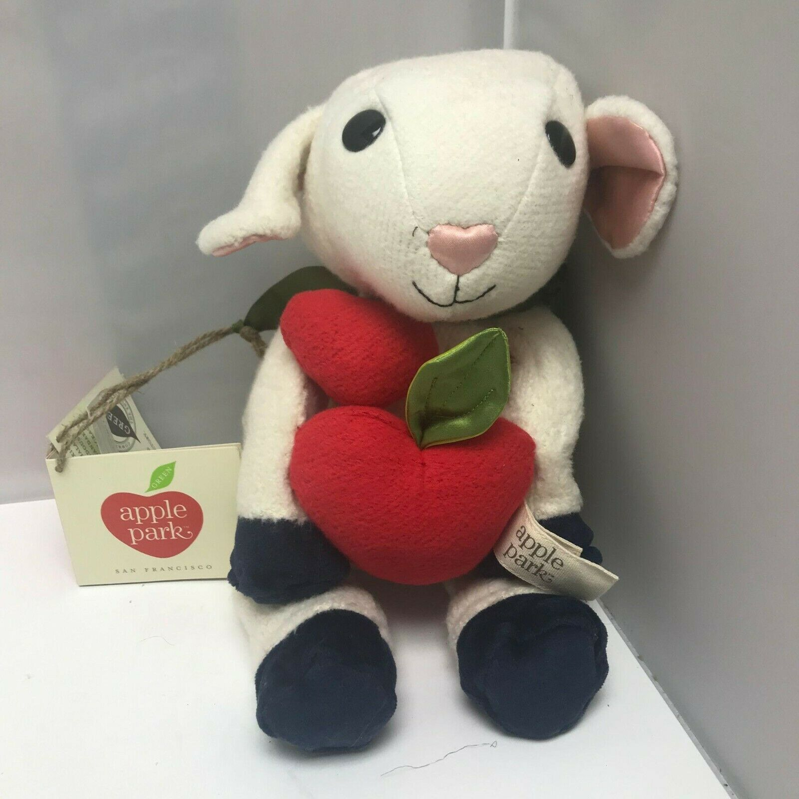 Primary image for Apple Park Organic Lamb Sheep Picnic Pal Cute Plush Stuffed Animal Toy 9″