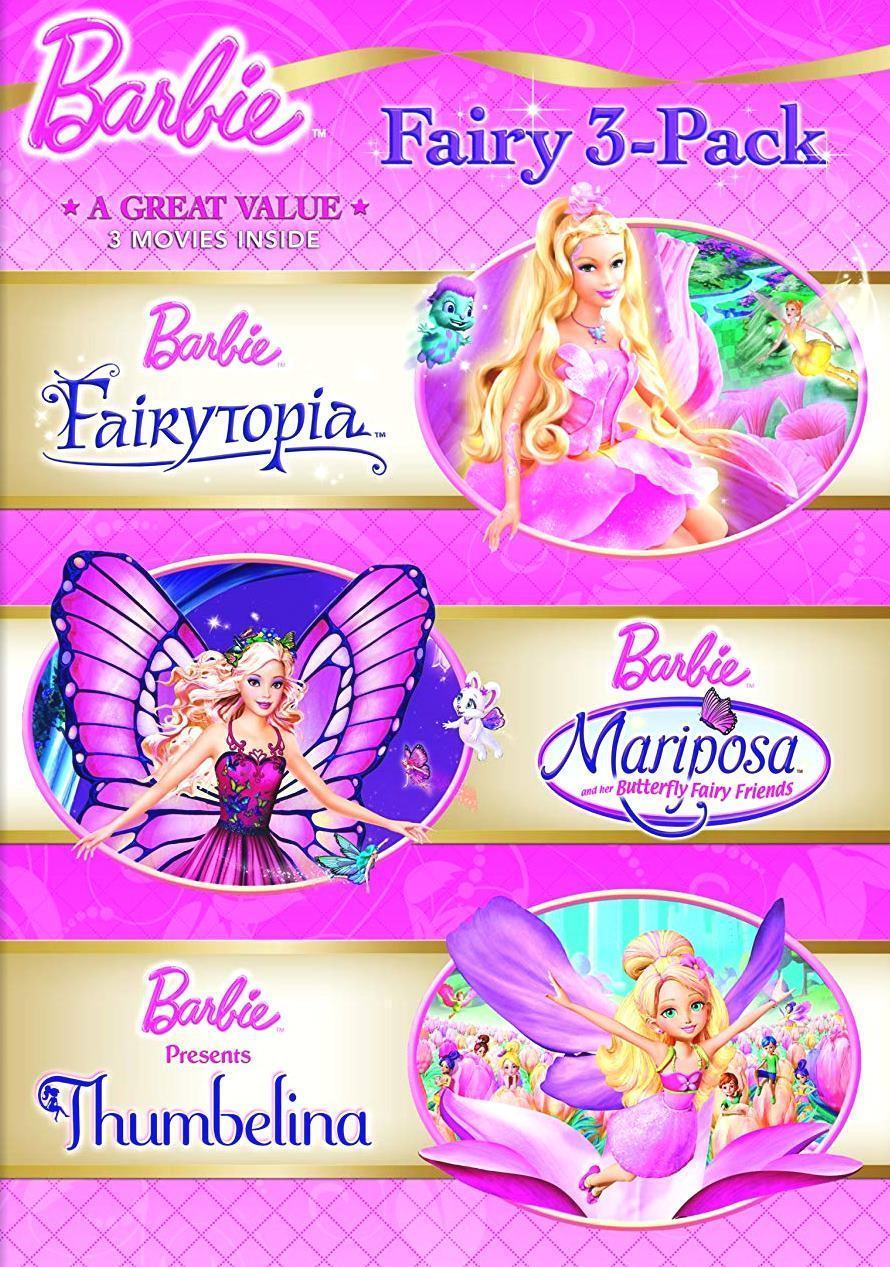 Barbie Fairy 3-Pack (2012 DVD, 3-Disc Set, Widescreen) BRAND NEW/SEALED