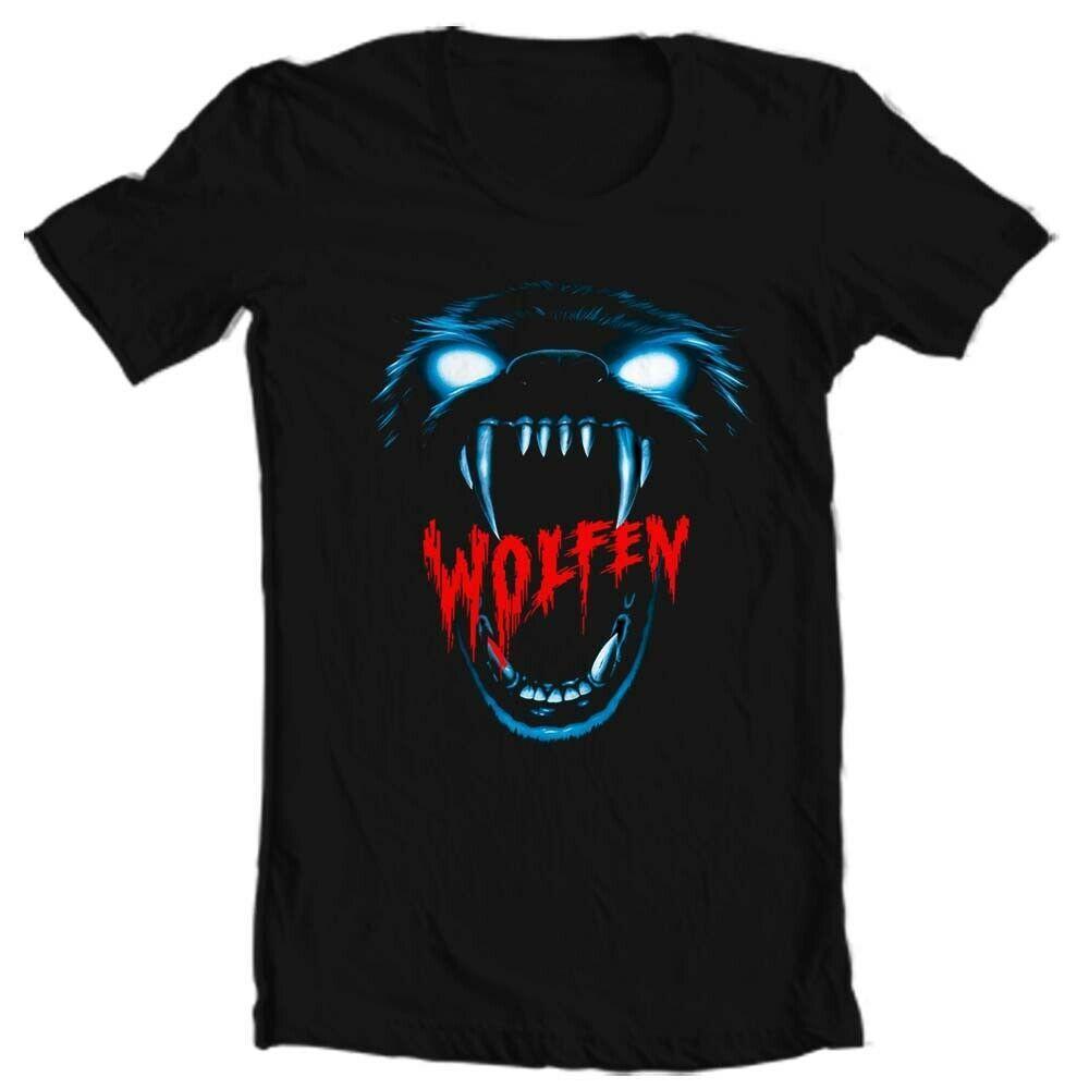 Wolfen T Shirt retro werewolf horror movie 80s classic 100% cotton graphic tee