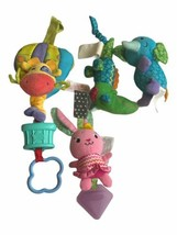 Bright Starts Baby Toy Lot Crinkle Teether Elephant Giraffe Hanging Plus... - $15.83