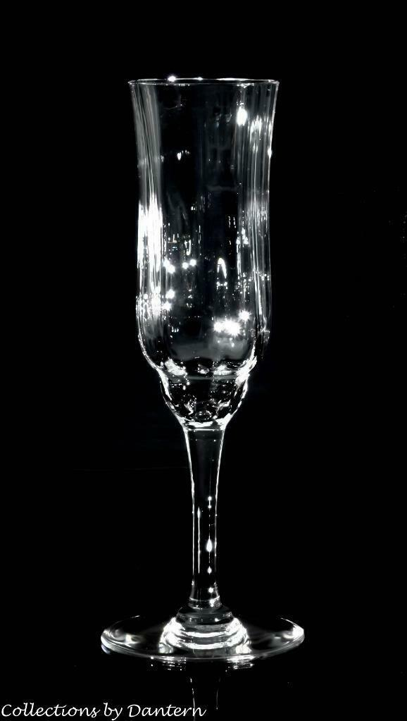 "Baccarat Crystal Capri Optic Champagne Flutes 7 3/8"" - $124.00"