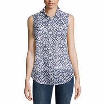 Liz Claiborne Women's Sleeveless Button Front Shirt W Cami MEDIUM White ... - $27.71