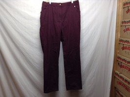 Woman Within Maroon Heavy Weight Cotton Pants w Elastic Waist Sz 16W