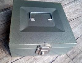 "Vintage Excelsior Square 9x9"" Metal Utility File Bill Money Box w/Month ... - $38.65"