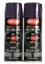 2 Cans Krylon 12 Oz SuperMaxx All In One 8964 Gloss Purple Paint & Prime... - $16.99