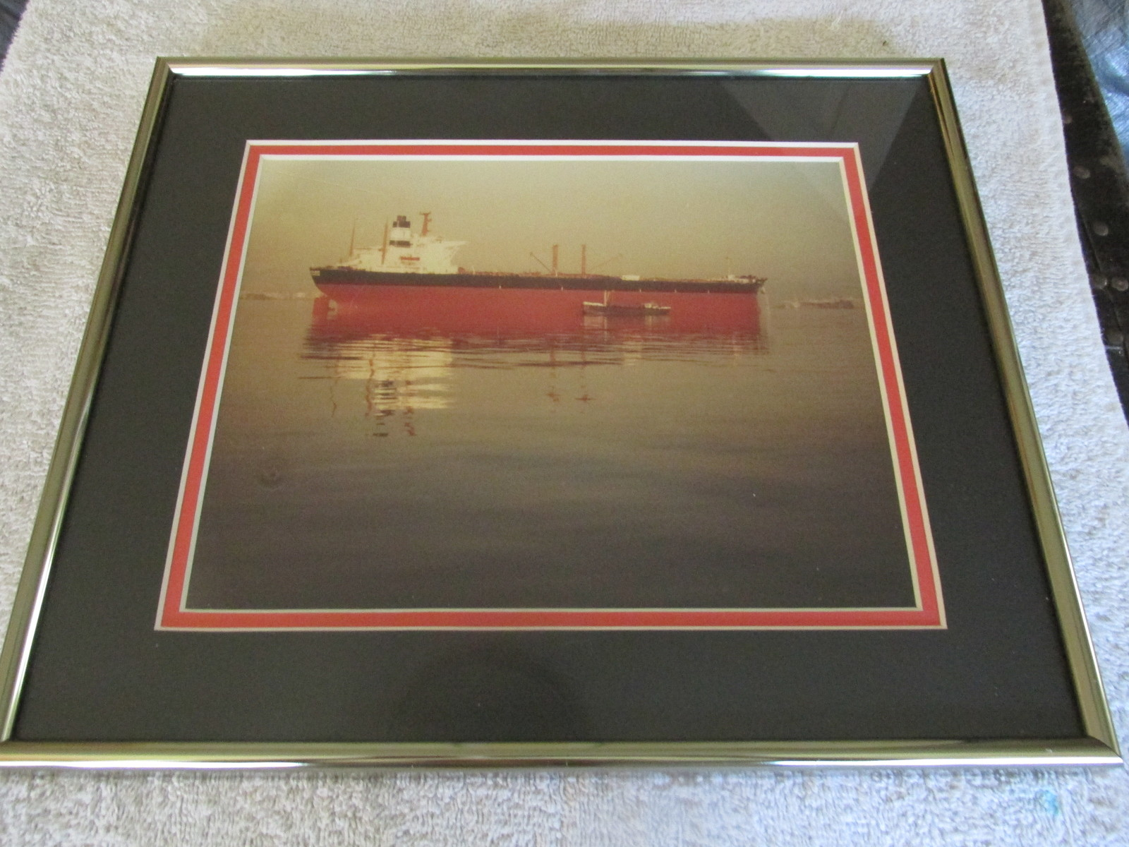 Framed Regancy Gallery 12 x 14 Ship Picture