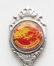 Collector Souvenir Spoon Canada Ontario Dorset Aerial View Emblem - $4.99