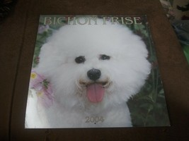 RARE Vintage 2004 Bichon Frise miniature dog Calendar Browntrout Publish... - $19.79