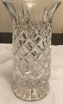 "Vintage Unmarked Waterford Crystal Footed Vase  10"" Tall - $116.88"