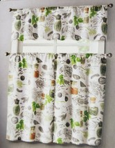 """3 pc. Curtains Set: Valance(56"""" x 14"""") & 2 Tiers (28"""" x 36"""") SPICES, HERBS, VC - $17.81"""