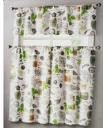 """3 pc. Curtains Set: Valance(56"""" x 14"""") & 2 Tiers (28"""" x 36"""") SPICES, HER... - $17.81"""