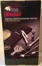 Wine Enthusiast Stainless Steel Essential Bar Tool Set 6 Pieces - NEW Gr... - $510,61 MXN