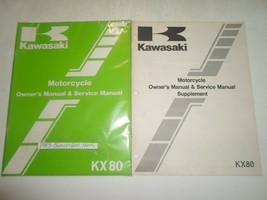 1983 Kawasaki KX 80 Motorrad Owners Manuell Service Manuell Fabrik 2 Vol... - $49.45