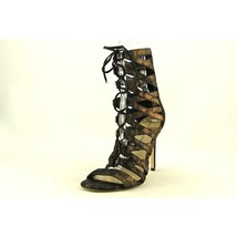 Via Spiga Teaira Women Bronze Strappy Shoe Sandals EUC $225 8.5 Back Zipper - $90.00