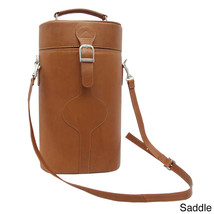 Leather Double Wine Carrier Brown Solid Leather Travel Accessories Bag Home - $153.33