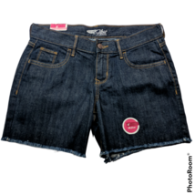 NWT Old Navy Womens The Flirt Jean Booty Shorts Size 2 Dark Blue Raw Hem... - $23.76
