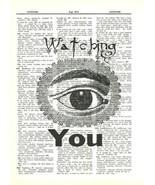 Eyeball Watching You Dictionary Art Print Mixed Media Wall Art Decor fun079 - $10.99