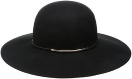 Nine West Women's Felt Floppy Hat With Metal Tube, Black, One Size - ₨3,135.13 INR