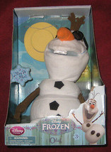 Disney Store Frozen Talking and Singing Snowman Olaf 10 inch Plush New.  - $37.39