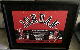 "Michael Jordan Framed UDA Signed Career Achievments App 22""x19"" Upper De... - $5,999.99"