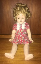 "18"" VINTAGE 1930'S COP IDEAL N&T SHIRLEY TEMPLE COMPOSITION DOLL - $100.00"