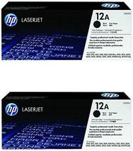 2 X HP 12A Black Toner Cartridge (Q2612A) - $102.81