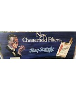 COOL VINTAGE Chesterfield ADVERTISING Sign with vibrant colors dated 1975 - $93.15