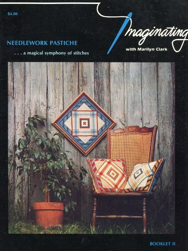Needlework Pastiche Imaginating Marilyn Clark Needlepoint Pattern Booklet - $6.27