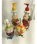 Tracy Flickinger Condiment 4 Piece Set MASTERS OF THE GRILL BBQ CHEFS  - $56.92