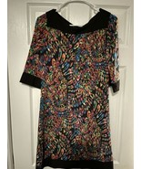 555 Los Angeles Modern Disco Style Dress Women's Size Small Lightweight ... - $25.73