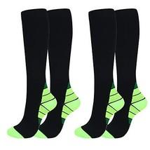 2/7 Pairs Compression Socks Women Men 20-30 mmHg Best Graduated Athletic... - $15.23