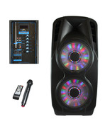 beFree Sound Double 12 Inch Subwoofer Portable Bluetooth Party PA Speaker - $220.73