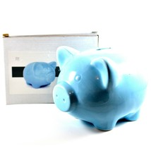 Applesauce Blue Pig Baby Ceramic Still Piggy Savings Bank