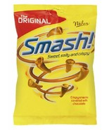 Nidar Smash Original - Norwegian Chocolate Covered Corn Snacks Bag 100g,... - $19.31