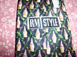 "RM STYLE RALPH MARLIN Silk Neck Tie Chianti & Wine Repeat USA Made 57""x3.5"" image 3"