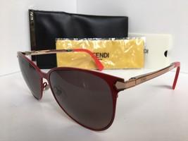 New FENDI FF 0022/S 7VZPR 57mm Red Designer Women's Sunglasses - $189.99
