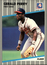 1989 Fleer #597 Gerald Perry NM Near Mint Braves - $0.90