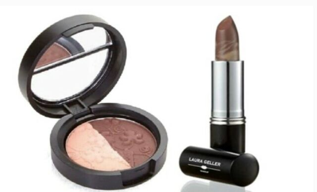 Laura Geller Baked Eyeshadow And Berry Banana Marble Lipstick Set! - $15.99