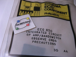Sylvania ECG850 IC Op Amp Band-Switch Equivilant NTE850 NOS Qty 1 - $10.92