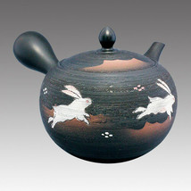 Tokoname Kyusu teapot - SHUNJYU - Rabbit 530cc/ml - obi ami stainless st... - $81.69