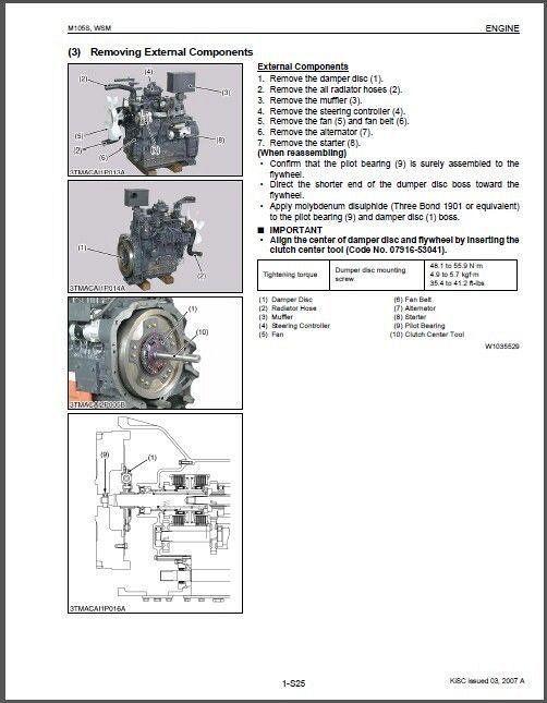 Terrific Kubota M105S Tractor Wsm Service Workshop And 50 Similar Items Wiring Cloud Pendufoxcilixyz