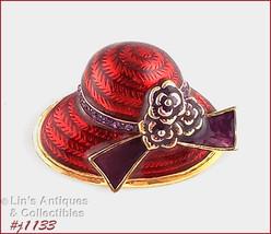 Signed Eisenberg Ice Hat Shape Pin (#J1133) - $28.00