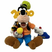 "Disney Store Goofy 2000 New Year's 20"" Beanbag Plush W/Tags Collectors Item - $37.40"