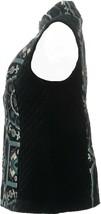 Susan Graver Tapestry Zip Front Vest Blue Black 6 NEW A282090 - $43.54