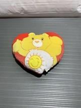 Vintage Care Bears Funshine Bear Heart Pillow Plush - $13.67