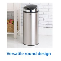Large Trash Can Touchless Kitchen 13 Gallon Sensor Automatic Wastebasket... - $83.49