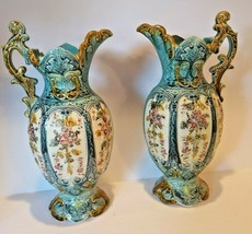 """Pair of Rococo Pitcher Vases 14"""" Tall - $692.95"""