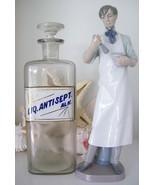 "RARE 12"" Glass Label Apothecary Bottle~LUG~1800's~LIQUID ANTISEPTIC SOLU... - £392.93 GBP"