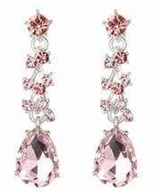 Stunning Austrian Crystal Necklace and Earrings Set, Pink image 2