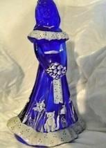 Fenton Art Glass Cobalt Blue Bridesmaid with Cat Martha Reynolds - $183.34